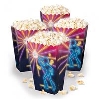 Boland popcornbakjes 'Disco fever' junior 40 cl papier 4 stuks