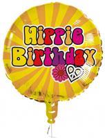 Boland folieballon Hippie Birthday 45 cm geel/oranje