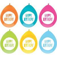 Haza Original ballonnen Happy Birthday 30 cm latex 6 stuks