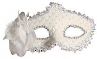 Fiestas Guirca masker Flowers dames polyester wit one-size