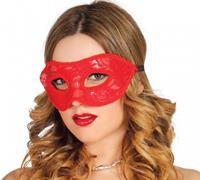 Fiestas Guirca masker dames polyester rood one-size