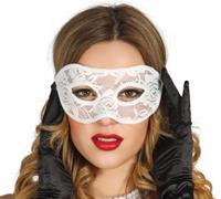 Fiestas Guirca masker dames polyester wit one-size