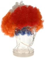 Free and Easy pruik Afro Holland unisex rood/wit/blauw/oranje one-size