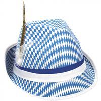 Folat hoed Bayern 28 x 13 cm polyester blauw/wit