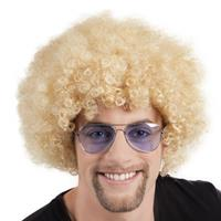 Boland pruik Afro 43 x 23 cm polyester blond