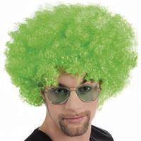 Boland pruik Afro 43 x 23 cm polyester groen