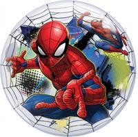 Folat ballon Spiderman Bubbles 56 cm latex rood/transparant