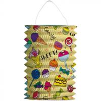 Folat treklampion Snoep junior 16 cm geel papier