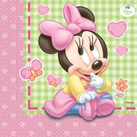 Papieren servetten Baby Minnie (33x33cm) 20 st.