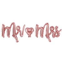 Folieballon rosé goud''Mr''en''Mrs''(69x125cm)