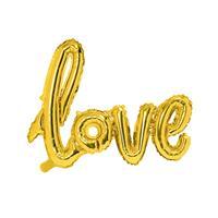 Folie Script Love 73 cm x 59 cm - Goud