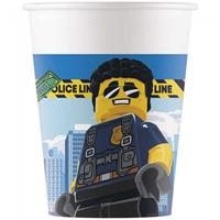 Papieren bekers Lego City 200ML 8 st.