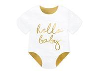 Papieren Servetten Hallo Baby 16 cm