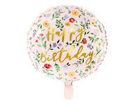 Folie Ballon Happy Birthday roze 35cm