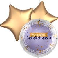 DeBallonnensite Ballon toefje van harte gefeliciteerd