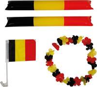 Velleman supporterskit België polyester zwart/geel/rood 4-delig