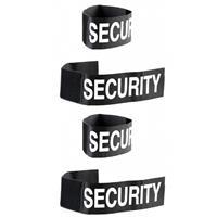 Merkloos Set van 6x stuks security polsband voor volwassenen