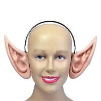 Merkloos 2x stuks diadeem met grote puntige elfen oren -