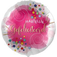 DeBallonnensite Hartelijk gefeliciteerd confetti