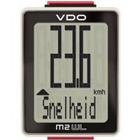 VDO fietscomputer M2.1 WL analoog wit 10 functies