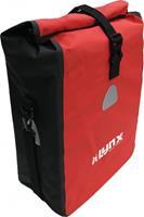 Enkele fietstas Single Pannier bag 16L Rood-zwart