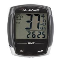 M-wave Fietscomputer 14 Functies Zwart