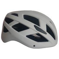 fietshelm met verlichting unisex wit maat M