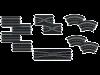 Carrera uitbreidingsset (4 rechte stukken,4 Bochten,2 kruisingen en 2 Versmallingen)26956