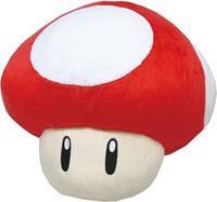 San-ei Co Super Mario Pluche - Super Mushroom Pillow