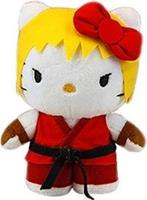 Toynami Street Fighter X Sanrio - Hello Kitty Ken Pluche 15cm