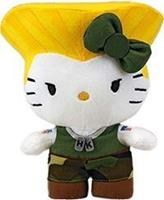 Toynami Street Fighter X Sanrio - Hello Kitty Guile Pluche 15cm
