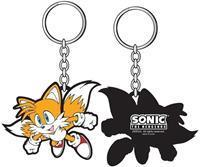 Flying Tails Rubber Keychain
