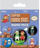 Pyramid International Super Mario Bros. Pin Badges 5-Pack
