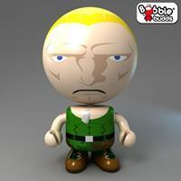 Bobble Budds Street Fighter : Guile