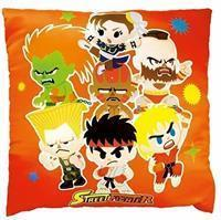 Amuse Street Fighter Square Pillow (Orange)
