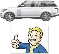Fanwraps Fallout - Thumbs-Up Vault Boy View Tru Sticker
