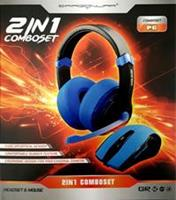 Dragon War Mouse + Headset 2in1 Comboset (Blauw)