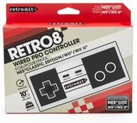 Retro-Bit Retro8 Wired Pro Controller for NES Classic, Wii and Wii U ()
