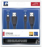 Speedlink Stream Play + Charge Cable Set (Zwart)