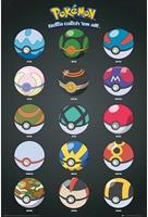 GB Eye Pokemon Maxi Poster - Pokeballs (61cm x 91,5cm)