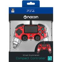 Bigben Nacon Wired Illuminated Compact Controller (Red)