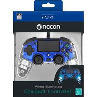 Bedrade Controller PS4 (Transparant Blauw)