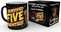 GYE warmtemok Five Nights at Freddy's: I Survived zwart 300 ml