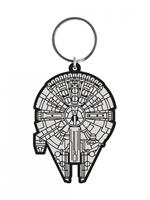 Pyramid International Star Wars Rubber Keychain Millennium Falcon 6 cm