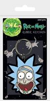 Pyramid International Rick and Morty Rubber Keychain Rick Crazy Smile 6 cm