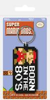 Pyramid International Super Mario Bros. Rubber Keychain Born in the 80's 6 cm