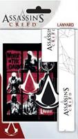 GYE Assassins's Creed Lanyard with Rubber Keychain Logo