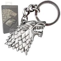 Noble Collection Game of Thrones Metal Keychain Stark Sigil