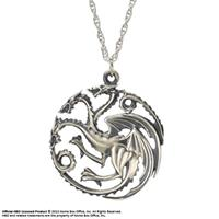 Noble Collection Game of Thrones Pendant & Necklace Targaryen Sigil (Sterling Silver)