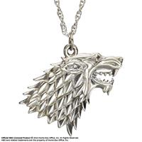 Noble Collection Game of Thrones Pendant & Necklace Stark Sigil (Sterling Silver)